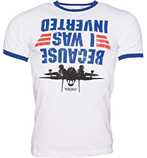 f068943f2 Catees Men's Because I was Inverted Top Gun T-Shirt: Amazon.co.uk ...