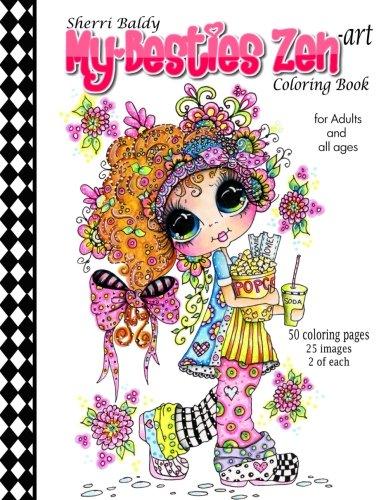 Sherri Baldy My-Besties Zen Art Coloring Book