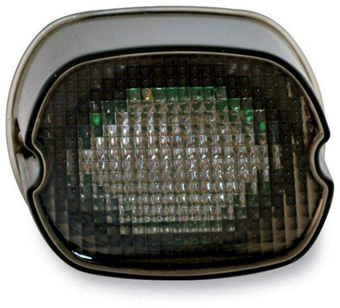 Custom Dynamics GEN2-LD-S-B License Plate Light Black-Out LED Laydown Taillight Without for 1999-2016 Harley-Davidson Models