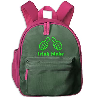 Irish Bloke St. Patricks Day Kids Boys & Girls Backpack For School, Summer Camp, Travel And Outdoors good