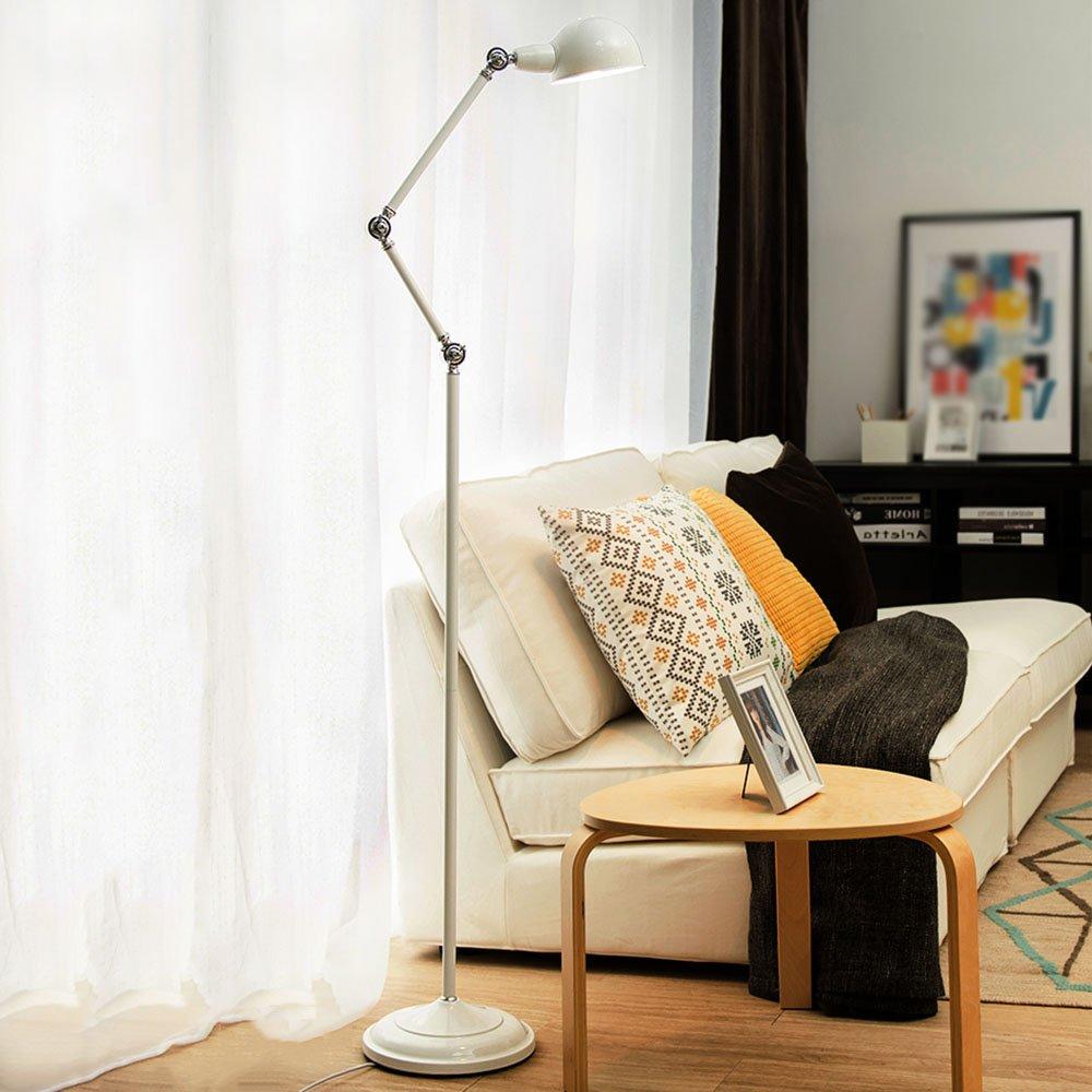 Im europäischen Stil Stehlampe Serie Einfache moderne Augenschutz zum Lesen der amerikanischen kreativen vertikalen Eisen Stehleuchte Wohnzimmer Studie Schlafzimmer Stehleuchte (Farbe wahlweise freigestellt) - Retro-Stehlampe ( farbe : B )