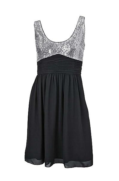 Vestidos de noche plateados con negro
