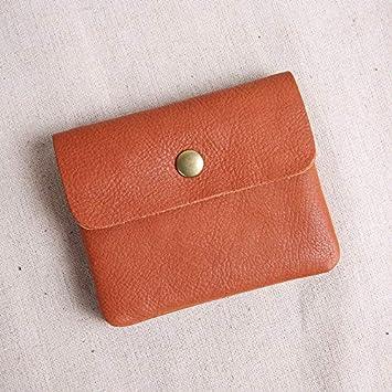 bfadfb6db334a XIGUAQB Meine Damen Geldbörse Leder Mini Small Wallet Kurze Schnalle Portemonnaie  Frische Kleine Karte Ändern Beutel