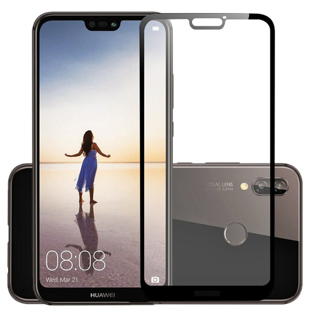 Huawei P20 Lite Tempered Glass Film Glass, QULLOO Tempered Glass Protective Film Protector Protector Glass Screen Protector for Huawei P20 Lite