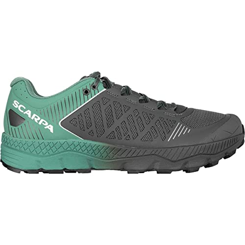 SCARPA Spin Ultra Running Shoe - Men's Iron/Deep Sea 43.5