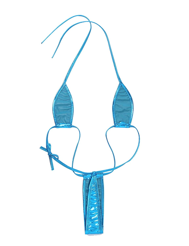 MSemis Teeny Weeny Sling Shot Micro Mini Bikini Thong One-Piece Teddy