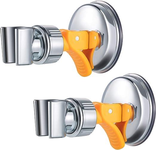Soporte de cabezal de ducha con ventosa ajustable universal para montar en la pared no requiere taladros