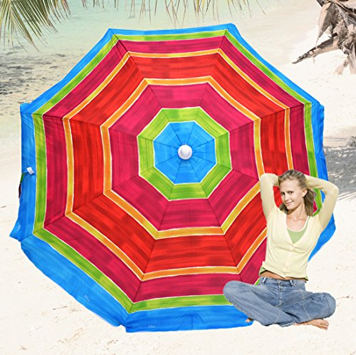Deluxe 6 ft Beach Umbrella by Rio - UPF 100+ by RIO Gear
