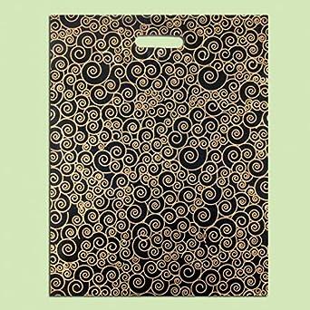 Paquete de 50 bolsas de plástico con diseño de espiral ...