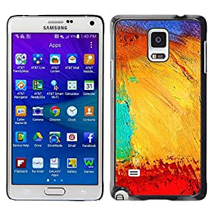 MOBMART Carcasa Funda Case Cover Armor Shell PARA Samsung Galaxy Note 4 - Painted Mesh Of Colors