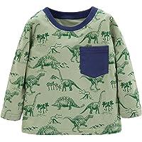 Ainuno Girls Dresses (1-7 Years),100% Cotton Boys Girls Shirts Summer Clothes Tees