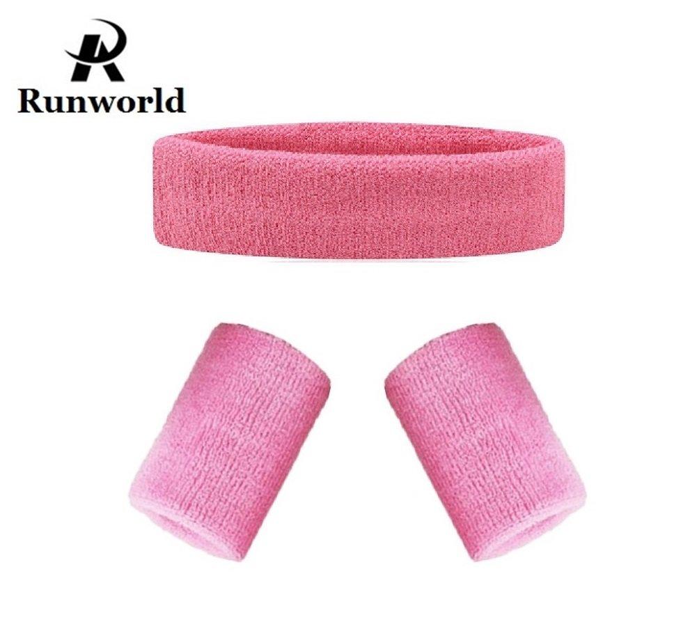 【あす楽対応】 runworld汗止めバンドヘッドバンド& Wristbandsセット )、Perfect 2 for Runningサイクリングテニスサッカーバスケットボールとすべてのスポーツ – Wristbands ( 1ヘッドバンド+ 2 Wristbands ) B0775R496P ピンク, タオルと布団のお店 【ふわりら】:f9987884 --- obara-daijiro.com