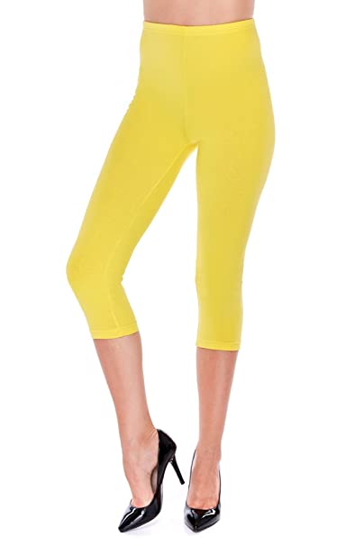 Damen Leggings Leggins 3 4 Capri Sommer 36 38 40 42 44 46  Amazon.de   Bekleidung f560dbf8ef