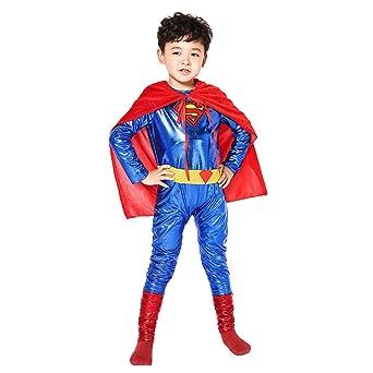 c252512e69543b 即納☆スーパーマン コスプレ衣装 全身タイツ 子供 キッズ ハロウィンコスチューム (S身長110