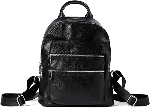 Women Backpack Flap Daypack Anti Theft Shoulder Bag PU Leather Black