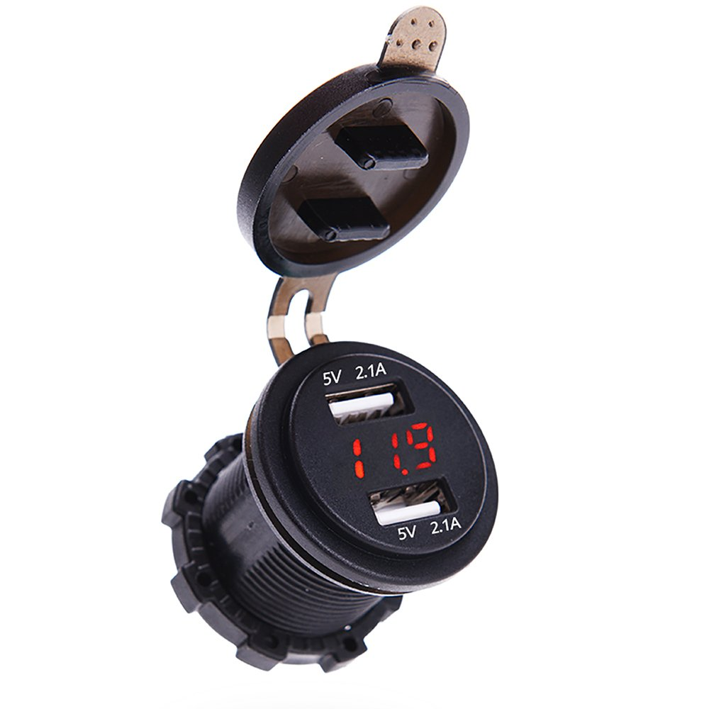 Line Powered Digital Voltmeter : Replaced cigarette lighter socket with dual usb power