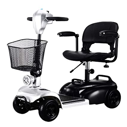 KMCQA Scooter Eléctrico 4 Ruedas Senior Scooter Eléctrico para Discapacitados para Silla de Ruedas Eléctrica para
