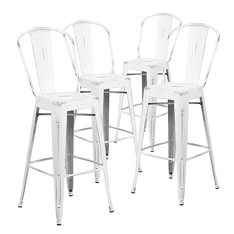 Phenomenal Amazon Com Nicemoods Metal Bar Stools Indoor Outdoor Chairs Machost Co Dining Chair Design Ideas Machostcouk