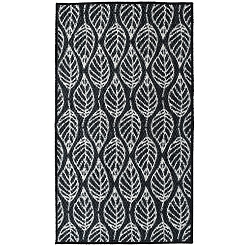 iCustomRug Non-slip Print Mat in Black with Leaf pattern 28