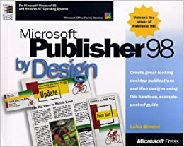 Microsoft Publisher 98 By Design Simone Luisa 0790145164117 Amazon Com Books