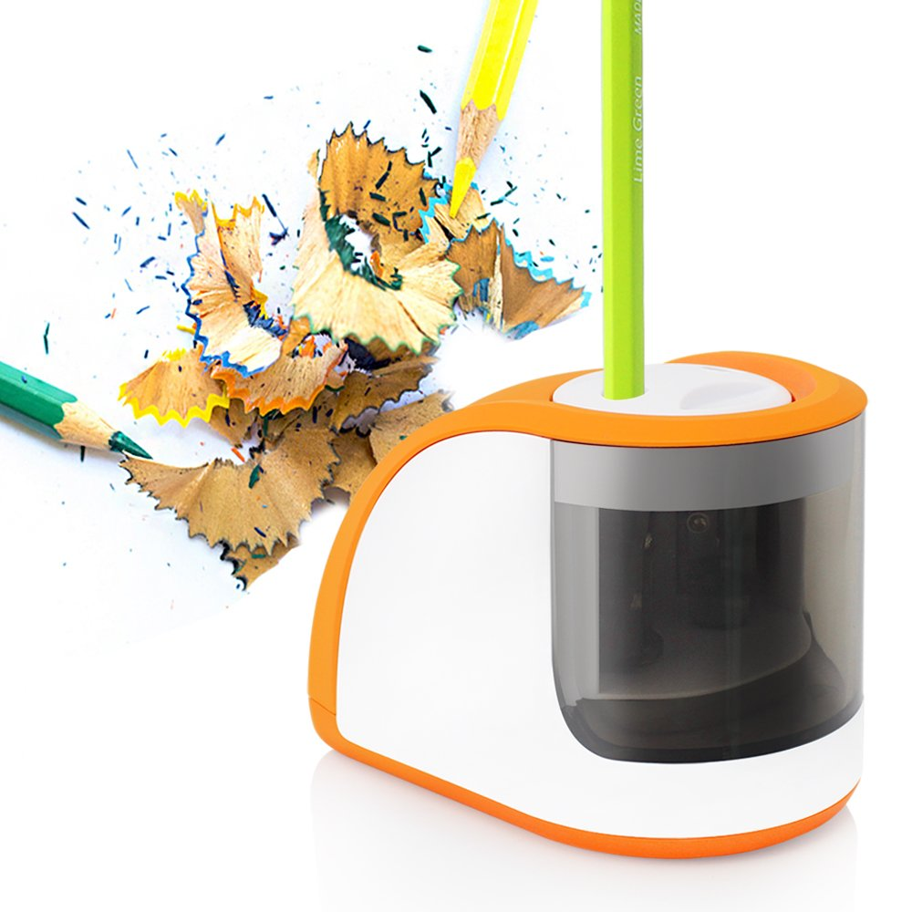 Electric Pencil Sharpener, FunHour Back to School Supplies Kit Pencils Sharpener with Double Holes Electronic& Battery Operated Ultra Portable Ideal for Artist Students Teachers for Home Office School