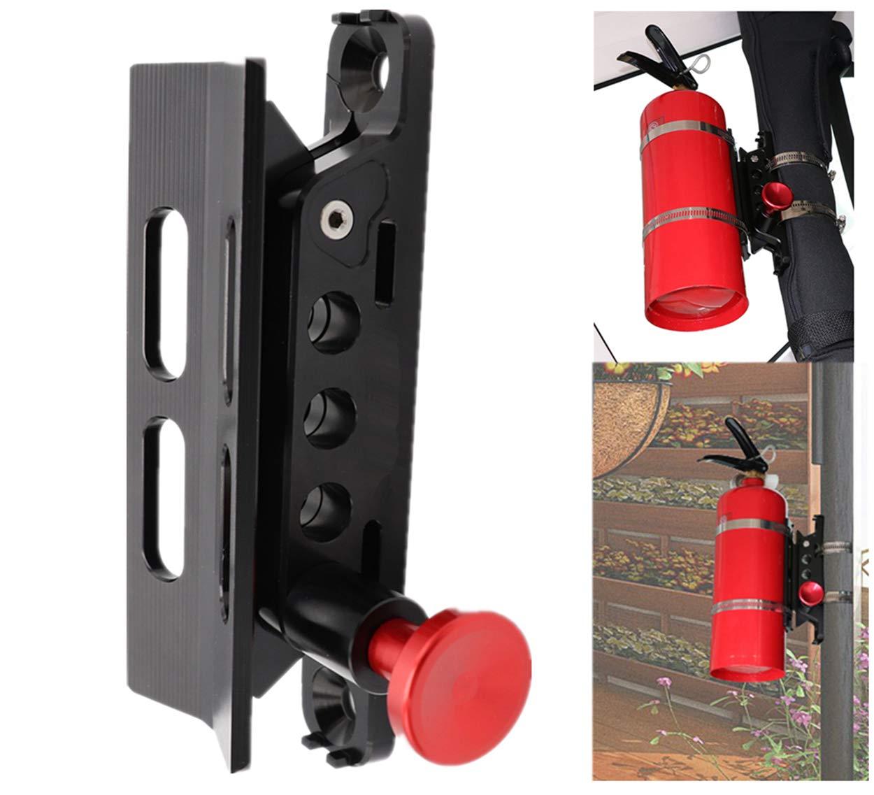 AUFER Vehicle Universal Roll Bar Bottle/Fire Extinguisher Holder Mount,Adjustable, Aluminum by AUFER