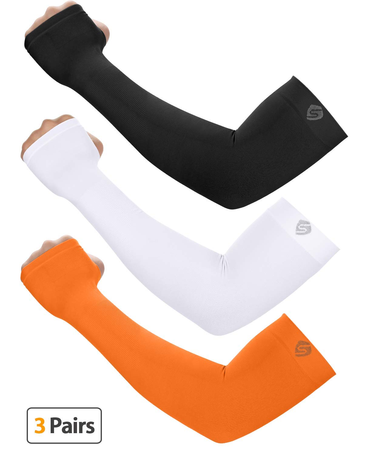 SHINYMOD UV Protection Cooling Arm Sleeves Men Women Sunblock Cooler Protective Sports Running Golf Cycling Basketball Driving Fishing Long Arm Cover Sleeves