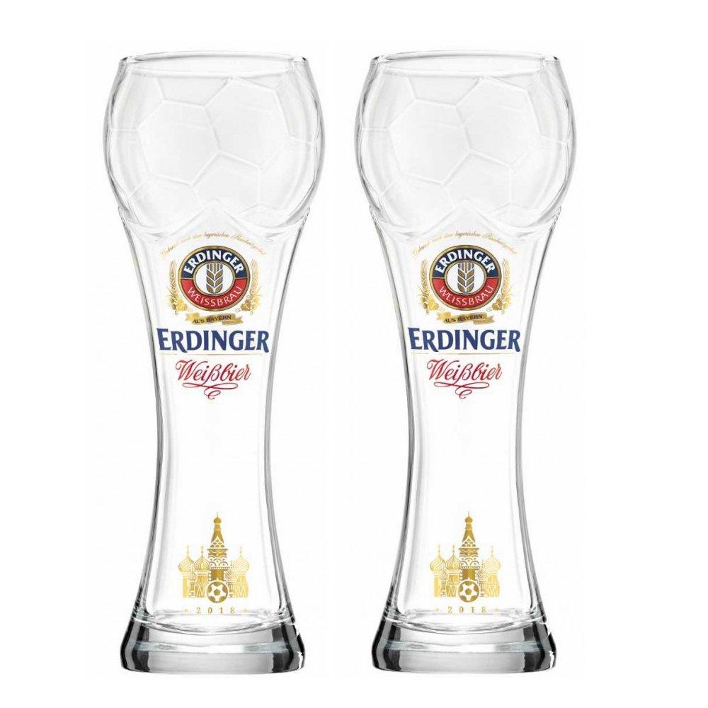 Erdinger Football Cup German Beer Glass .5L Set of Two