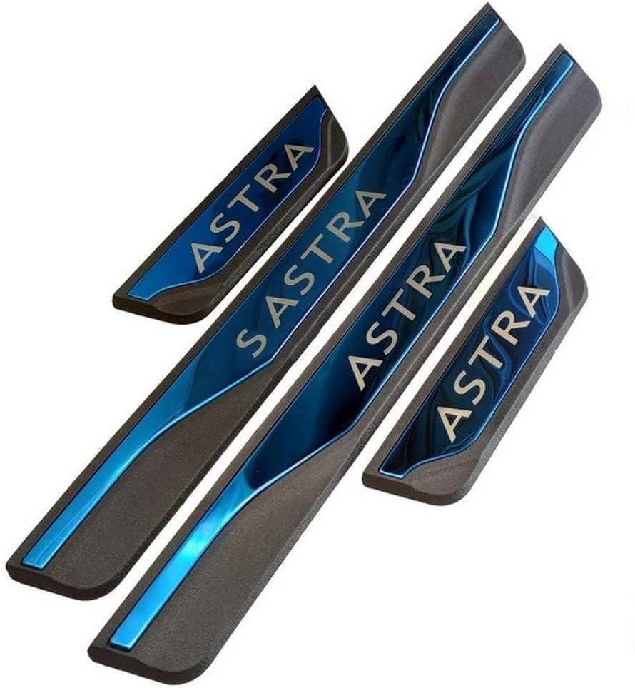Pegatinas Tiras Proteccion Accesorios,Blue BTSDLXX 4Pcs Coche Acero Inoxidable Externo Barra Umbral Puerta para Opel Astra 2010-2018 Bienvenido Patada Pedal Door Sill Desgaste