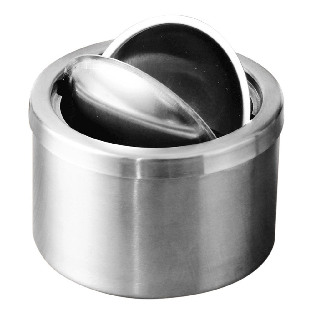 RUOYOU Windproof Ashtray,Creative Stainless steel Ashtray With lid For Home Bars-A by RUOYOU (Image #1)