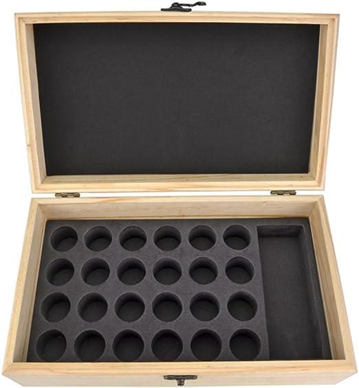 Caja de almacenamiento de aceite esencial, caja de almacenamiento de aceite esencial organizador de aceite esencial caja de multi-grid de madera caja de presentación de aceite esencial caja de almacen: Amazon.es: Hogar