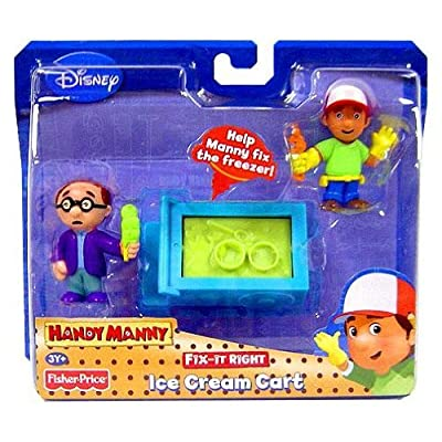 Fisher Price Disney Handy Manny Fit-it Right Ice Cream Cart Figure Pack: Toys & Games