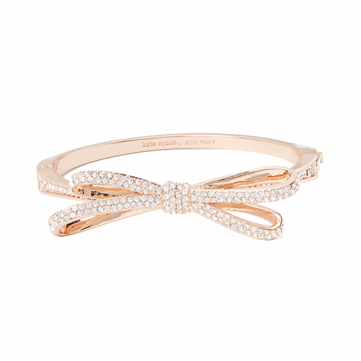 Kate Spade Tied Up Pave Bow Bangle (Rose Gold)
