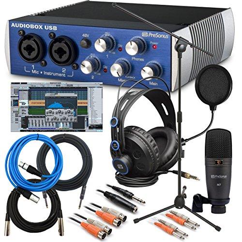 Music Bundle (PreSonus AudioBox Studio BUNDLE with Microphone Stand, Pop Filter,)