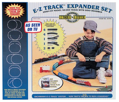 (Bachmann Trains Snap-Fit E-Z Track Nickel Silver Layout Expander Set)