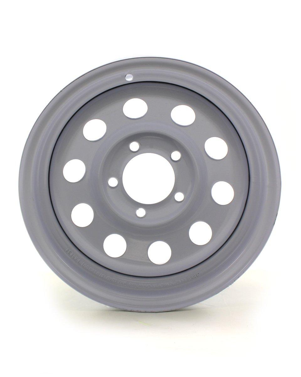 RecStuff.com JG 14X6 5/4.5 White Mod Trailer Wheel by RecStuff.com (Image #1)