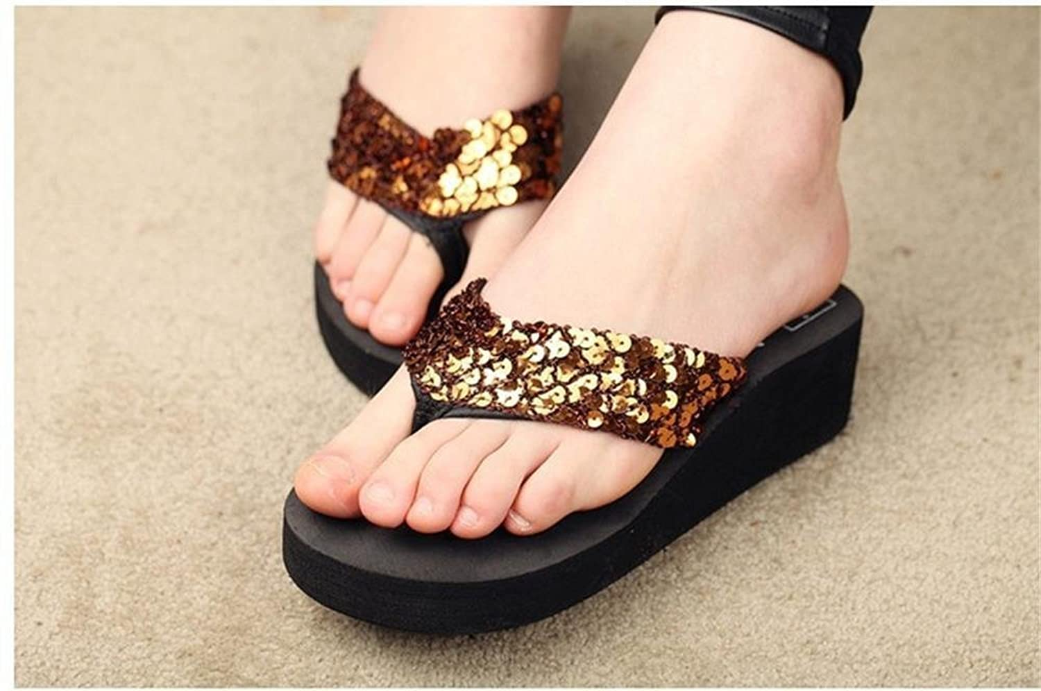 Flat heel sandals images - Minetom Women S Sandals Mules Sequin Glitter Sandals Beach Home Slippers Flip Flops Flat Slippers Summer Casual Shoes Holiday Accessary Amazon Co Uk
