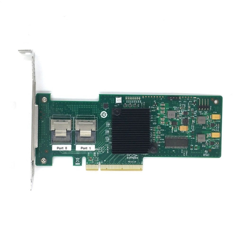 IBM M1015 ServeRaid LSI SAS9220-8i PCI-Express PCIe 8-port 6Gb/s SAS+SATA Controller with RAID 0,1 Support Low Profile Bracket 46C8933 ServeRAID M1015 by LSI Logic