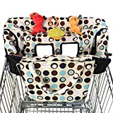 Crocnfrog 2-in-1 Shopping Cart Cover | High Chair Cover for Baby | Medium