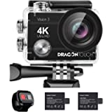 【Lowest Price】 Dragon Touch 4K Action Camera Vision 3 Underwater Waterproof Camera 170° Wide Angle WiFi Sports Camera…