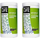 Better Life Natural All-Purpose Cleaner Wipes, Clary Sage & Citrus, 70 Count (2pack)