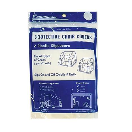 Amazon.com: 2 piezas silla de plástico funda de protección ...