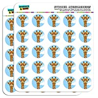 "Giraffe Zoo Animal Safari 1"" Planner Calendar Scrapbooking Crafting Stickers"