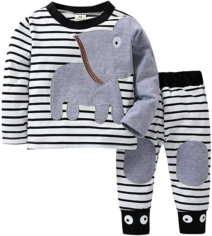 Memela Baby Clothes,Newborn Infant Baby Girl Long Sleeve Plaid Ruffle T Shirt Tops Clothes Outfits