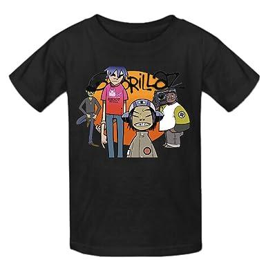 6f62b4a4 Amazon.com: Toypop Gorillaz Kids Cotton O T Shirt Custom: Clothing