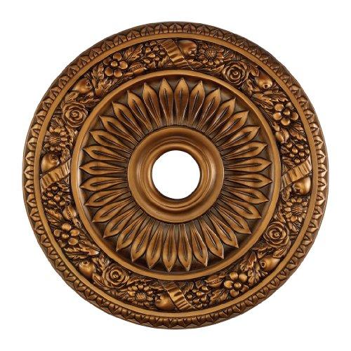 Elk M1006AB Floral Wreath Ceiling Medallion, 24-Inch, Antique Bronze Finish ()