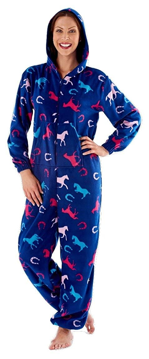 f9eb13785 Ladies Horse Design Hooded Onesie. Pink or Blue. Sizes 8-10 12-14 16 ...