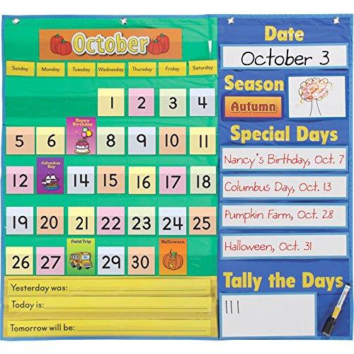 Really Good Stuff 157458 Today's Calendar Pocket Chart (Small Calendar Pocket Chart)