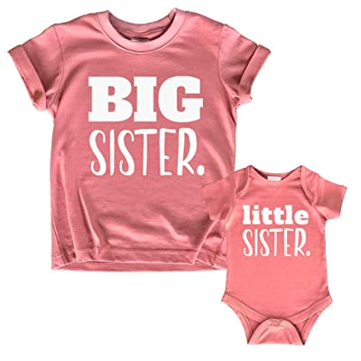 Buy Big Sister Little Sister Matching Outfits Shirt Gifts Girls Newborn Baby Set Online In Guatemala B08fgyh4x9