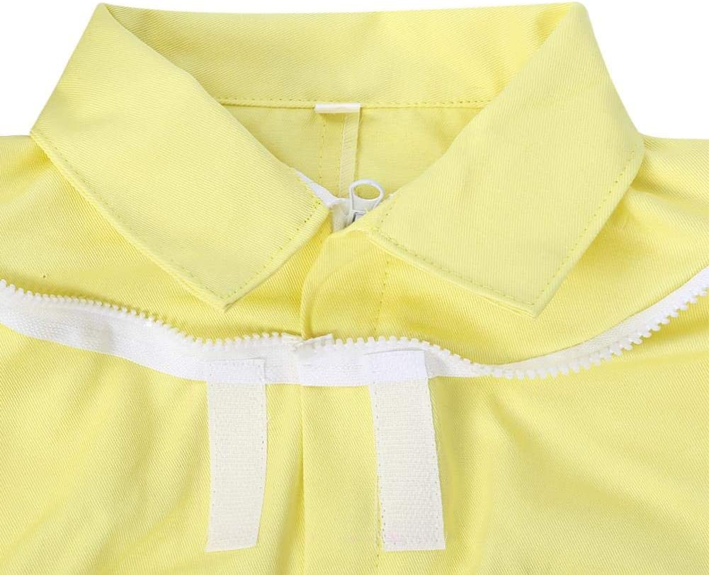 TOPINCN Professional Child Beekeeping Protective Yellow Cotton Suit Bee Farm Visitor Space Suit Anti-Bee Equipment Jumpsuit M